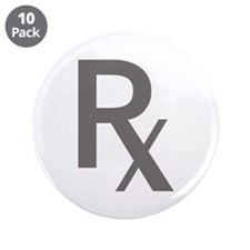 "Grey Rx 3.5"" Button (10 pack)"