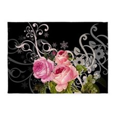 Rose Elegance 5'x7'Area Rug