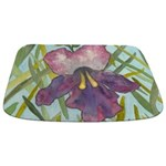 Tropical Flower Watercolor Bathmat