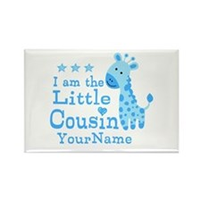 Blue Giraffe Personalized Little Cousin Rectangle