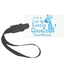 Blue Giraffe Personalized Little Cousin Luggage Tag