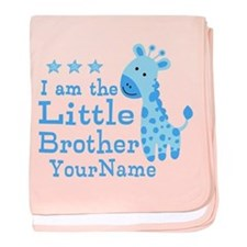 Little Brother Blue Giraffe Personalized baby blan