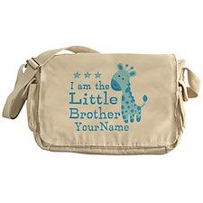 Little Brother Blue Giraffe Personalized Messenger