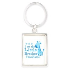 Little Brother Blue Giraffe Personalized Portrait