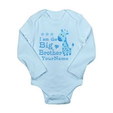 Giraffe Big Brother Personalized Long Sleeve Infan