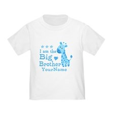 Giraffe Big Brother Personalized T