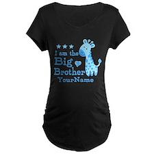 Giraffe Big Brother Personalized T-Shirt