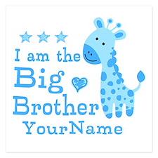 Giraffe Big Brother Personalized 5.25 x 5.25 Flat