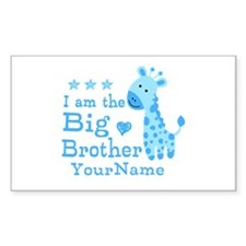 Giraffe Big Brother Personalized Decal