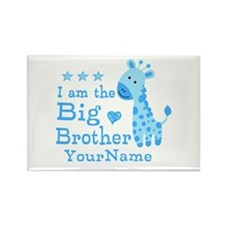 Giraffe Big Brother Personalized Rectangle Magnet