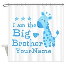 Giraffe Big Brother Personalized Shower Curtain