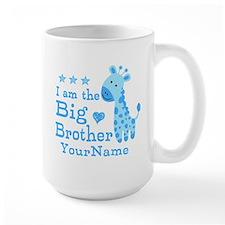 Giraffe Big Brother Personalized Mug