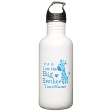 Giraffe Big Brother Personalized Water Bottle