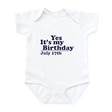 July 17 Birthday Infant Bodysuit