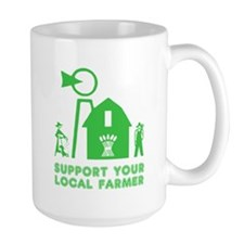 Support Your Local Farmer 3 Mugs
