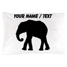 Custom Elephant Silhouette Pillow Case