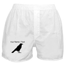Custom Crow Silhouette Boxer Shorts