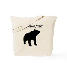 Custom Bear Silhouette Tote Bag