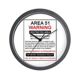 Area 51 Warning Wall Clock