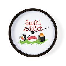 Sushi Addict Wall Clock