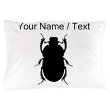 Custom Beetle Silhouette Pillow Case