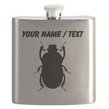 Custom Beetle Silhouette Flask