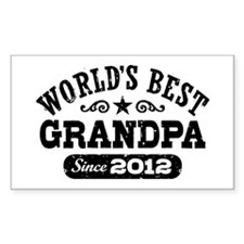 World's Best Grandpa Since 2012 Decal