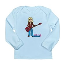 Bass Guitar Player Light/Blonde Long Sleeve Infant