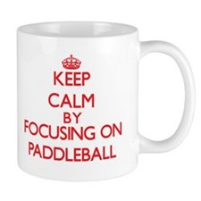 Keep calm by focusing on on Paddleball Mugs