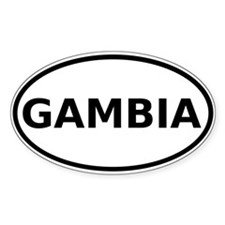Gambia Flag State Car Bumper Decal