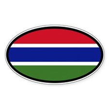 Gambia Flag West Africa State Car Bumper St