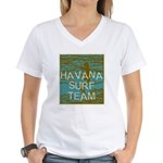 Havana Surf Team Wave Women's V-Neck T-Shirt