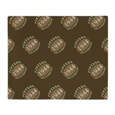 1944 Vintage (Brown) Throw Blanket