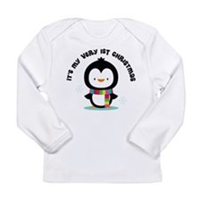 Penguin 1st Christmas Long Sleeve Infant T-Shirt