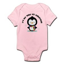 Penguin 1st Christmas Infant Bodysuit