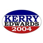 Kerry-Edwards 2004 (Oval Bumper Sticker)