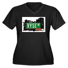 Vyse Av, Bronx, NYC  Women's Plus Size V-Neck Dark