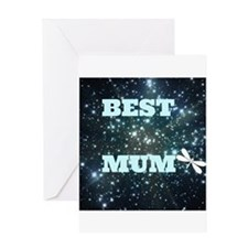 Decorative Best Mum Greeting Cards