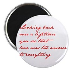 looking-back-love jane red Magnets