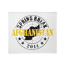Spring Break Afghanistan 2014 Throw Blanket