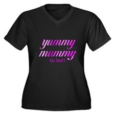 Cool Yummy mummy Women's Plus Size V-Neck Dark T-Shirt