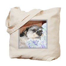Cuddly Yorki-Poo Mix Tote Bag