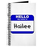 hello my name is hailee Journal