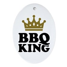 BBQ King crown Ornament (Oval)