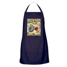 vintage colorful seashells nautical b Apron (dark)