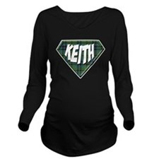 Keith Superhero Long Sleeve Maternity T-Shirt