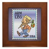 Arm And A Leg Bum Postage Increase Framed Tile