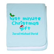 Personalize Last Minute Christmas Gift baby blanke
