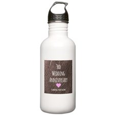 3rd Wedding Anniversary Water Bottle