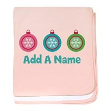 Christmas Ball Personalized baby blanket